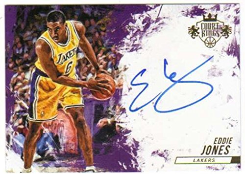 Basketball NBA 2015-16 Court Kings Autographs #39 Eddie Jones Auto /99 Lakers by o pee chee