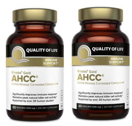Quality of Life Labs, Kinoko Gold AHCC, Immune Support, 500 mg, 60 Vegicaps - 2pc