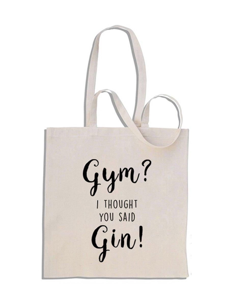 Gym? I Thought You Said Gin! - Mango largo bolso de compras de algodó n