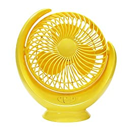 Usb fan Table fan,Personal fan Usb fans portable 3 speed Usb port Silent Student [office] Table Hostels-for families [office] [outdoor travel]-yellow