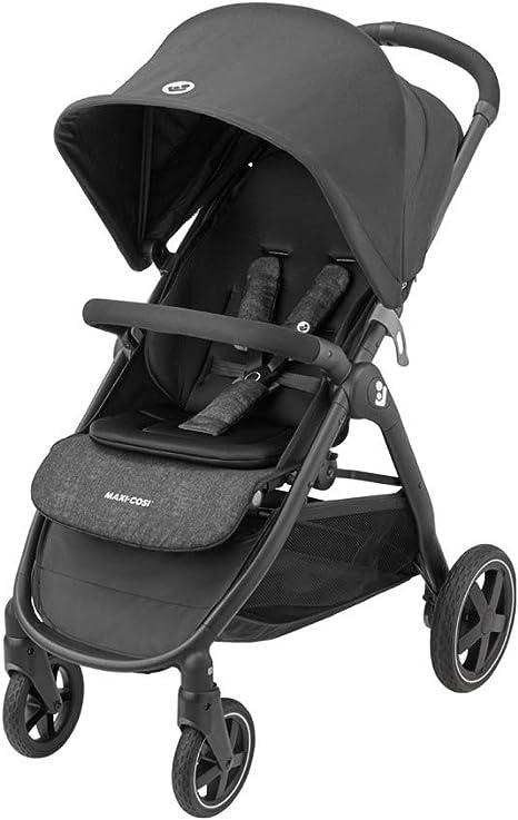 Opinión sobre Maxi-Cosi Gia Cochecito de 0 meses a 22 kg, plegable con una sola mano, reclinable con posición para dormir, cesta grande, color nomad black