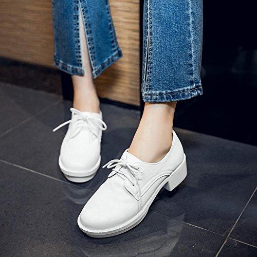 Chaussures Oxford À Lacets Pour Femmes Latasa Blanc