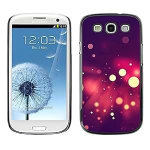 EJOY---Cubierta de la caja de protección la piel dura para el ** Samsung Galaxy S3 ** --Spots Bokeh púrpura