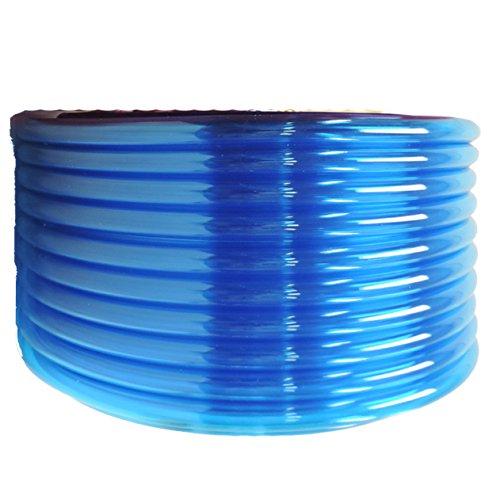 "(1/2"" ID x 5/8"" OD x 50 ft, BLUE) HydroMaxx Flexible Non-Toxic BPA Free Translucent Colored Vinyl Tubing"