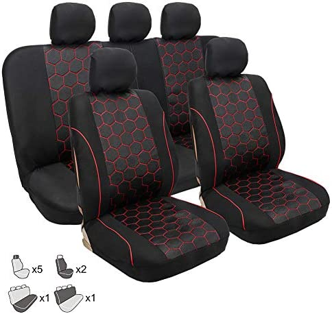 Luxusleder Car Seat Protector Universal Anti-Rutsch-Auto-Sitzabdeckung for 95/% der Autositze GAOYUN Auto-Sitzbezug Color : Black