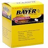 Genuine Bayer Aspirin 50/2s - 50 packets of 2