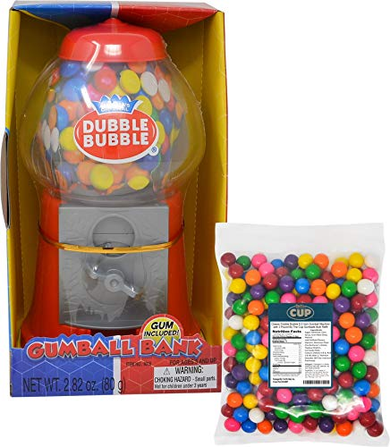 Classic Dubble Bubble 8.5 Inch Gumball Machine with