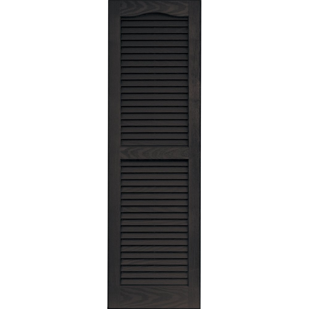 Vantage 0114047046 14X47 Louver Arch Shutter/Pair 046, Chocolate Brown The TAPCO Group - DROPSHIP