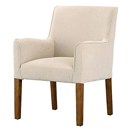 Modern Beige Linen Fabric Armchair With Wood Legs Accent Chair Antique  Vintage Chippendale MyEasyShopping