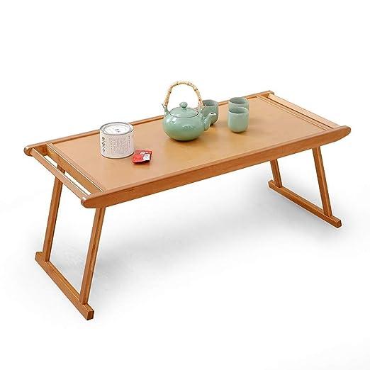 Mesa Plegable -GR Mesa plegable Mesa de centro de mesa de bambú de ...