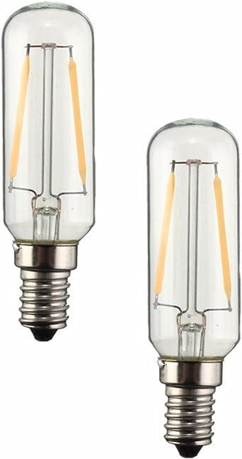 KINGSO , 2 unidades blanco cálido E14 T25 3 W LED bombilla LED o para campana extractora ventilador Extractor no regulable 300 lm: Amazon.es: Iluminación