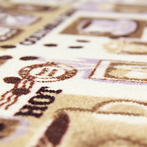 Carvapet 3 Piece Non-Slip Kitchen Mat Rubber Backing Doormat Runner Rug Set, Coffee Design (Brown 15''x47''+15''x23'') by Carvapet (Image #2)