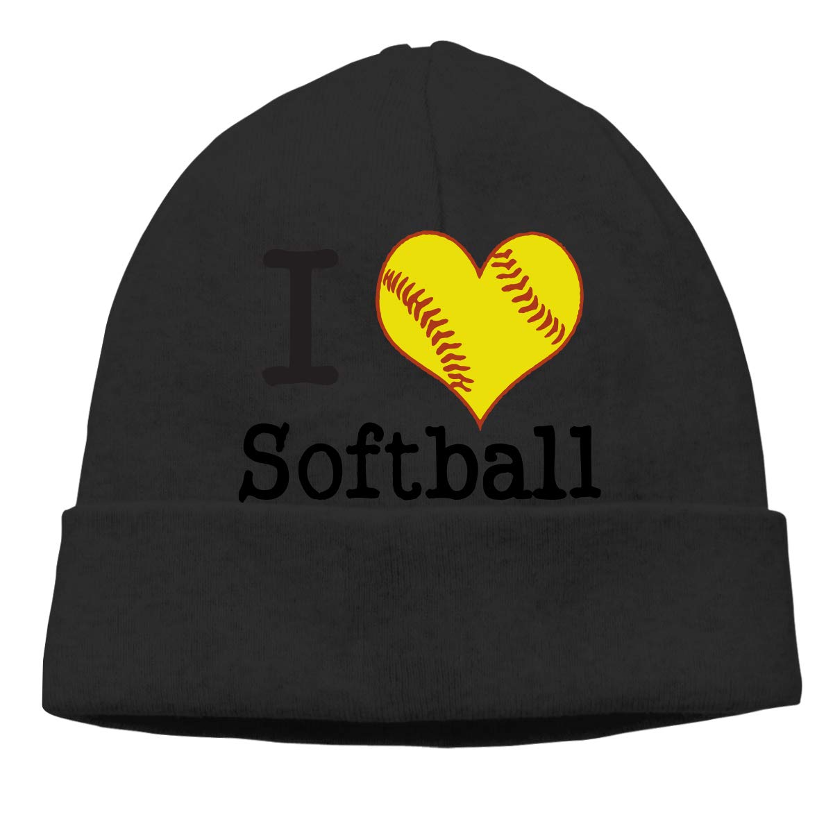 Mens and Womens I Love Softball Knitting Hat Stretch Skull Cap