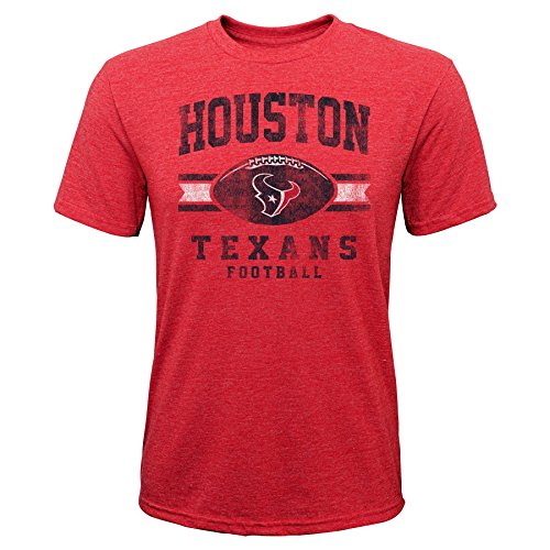 Outerstuff NFL NFL Houston Texans Youth Boys Player Pride Short Sleeve Tri-Blend Tee Red, Youth ()