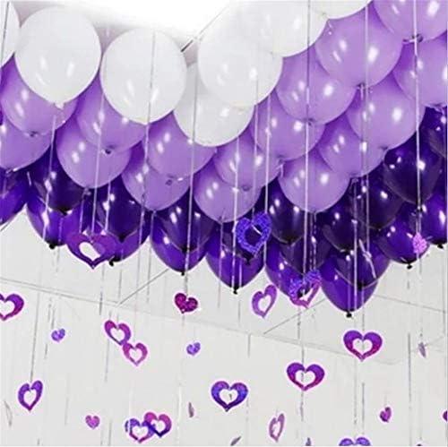 300個 風船 スーツ 結婚式 ハートチャーム 飾り 記念日 パーティーデコレーション 写真背景 バレンタイン ウェディング 飾り付け セット バルーン (紫色 チャーム)