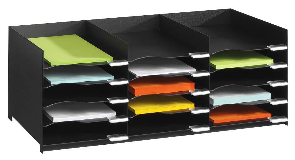 Fast Paper Easy Office Stackable Horizontal Organiser - Black