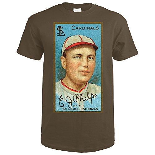 ST. Louis Cardinals - Edward J. Phelps - Baseball Card (Dark Chocolate T-Shirt XX-Large) (Phelps Cards)