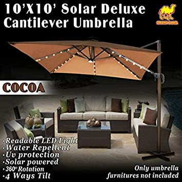 Fuerte camello 10 x10 Deluxe off-set colgante romaníes Offset funciona con energía