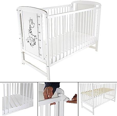 Baby Cama 120 x 60 cm M. absenkbarer lado somier Cuna Cuna en ...