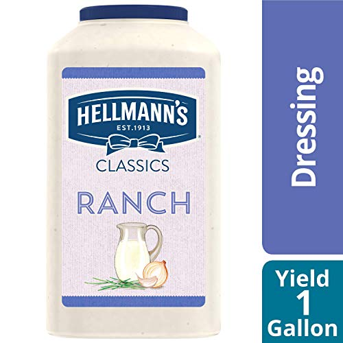 Ranch Salad Dressing Jug Gluten Free, No Artificial Flavors, Colors, added MSG or High Fructose Corn Syrup, 1 gallon, Pack of 4 ()