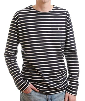 cc54a4bdaf Mat de Misaine Men's navy/white striped breton shirt (XXXXL - to fit chest