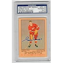 Gordie Howe signed 1993 Parkhurst 1951 Reprint Rookie Card Slab - PSA/DNA Certified - Hockey Slabbed Autographed Rookie Cards