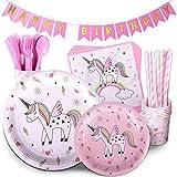 Unicorn Birthday Party Supplies Pink Children's...