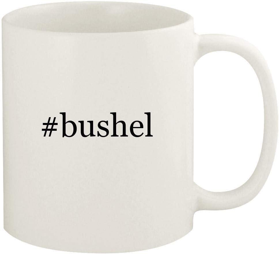#bushel - 11oz Hashtag Ceramic White Coffee Mug Cup, White