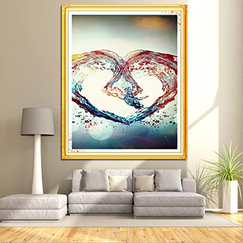 - Allywit DIY 5D Diamond Painting by Number Kits Full Drill Rhinestone Embroidery Cross Stitch Arts Craft for Home Wall Couple Lover Best Gift
