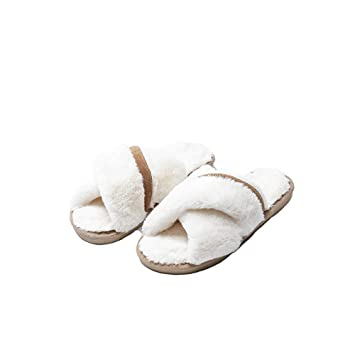 Zapatillas de casa para mujer Zapatillas antideslizantes con punta abierta para mujer, de casa,