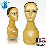 18'' Female Life size Mannequin Head for Wigs, Hats, Sunglasses Jewelry Display C3