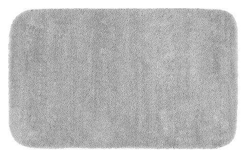 (Garland Rug Traditional Plush Washable Nylon Rug, 30-Inch by 50-Inch, Platinum Gray)