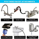 SmarterFresh Seven Piece Faucet Adapter Kit, Brass Aerator Adapter Set to Connect Garden Hose, Water Filter, Standard Hose via Diverter, in RV & Other - Male & Female Universal Faucet Adapter for Sink