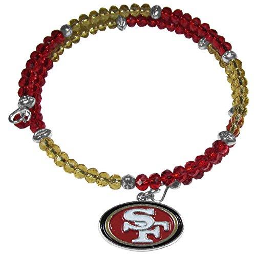 NFL San Francisco 49Ers Crystal Memory Wire (Crystal San Francisco 49ers Bracelets)