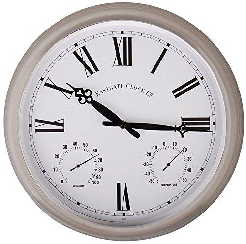 Esschert Design Roman Numerals Metal Outdoor Clock, Large