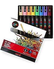 POSCA Farbowanie – PC-5M pastelowe kolory – zestaw 8 sztuk – w pudełku prezentowym