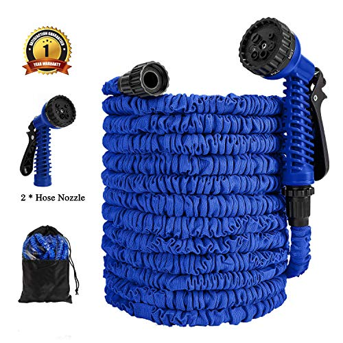 CZHOON Expandable Garden Hose, 75ft Water Hose with 2 Hose Nozzles and Storage Bag for Garden Lawn Farm Work Shop Car Wash & Pet Wash