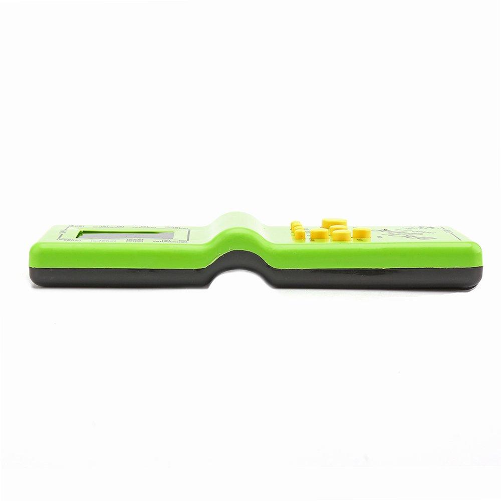 Sunsbell Console Portatile Retro Classic Infanzia Tetris palmari Giocatori Gioco Giochi Elettronici LCD Giocattoli Console di Gioco Riddle Giocattoli educativi Verde