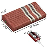 HealthyLine Far Infrared Amethyst Mat Pillow (Firm) 18''x10'' Natural Amethyst, Tourmaline & Obsidian Contoured Neck and Shoulder Support  Heated Negative Ions  Free Thermal Blanket
