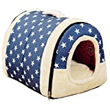 Modern Pet Dog Cat Portable House Puppy Detachable Kennel Nest Bed Warm Cushion offers