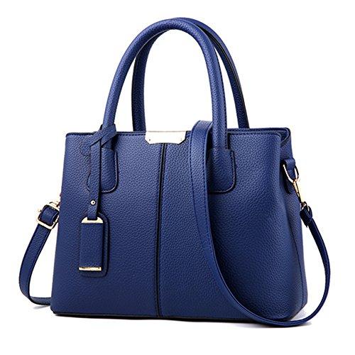 1 Purses Handbags Ladies Womens Designer Bag Bags CYHTWSDJ Satchel Shoulder and Blue Tote Deep 5twOpIq