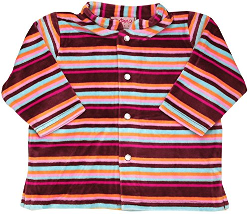 Zutano Chocolate Multi Stripe Velour Jacket, 0-6 months