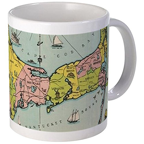 Cape Old (CafePress - Vintage Map Of Cape Cod Mugs - Unique Coffee Mug, Coffee Cup)