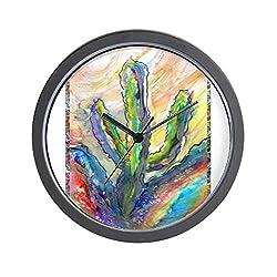 CafePress Cactus, Southwest Art! Unique Decorative 10 Wall Clock