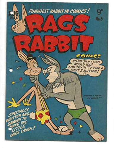 Rags Rabbit #3 1955 Australian Beach Bully Cover ()