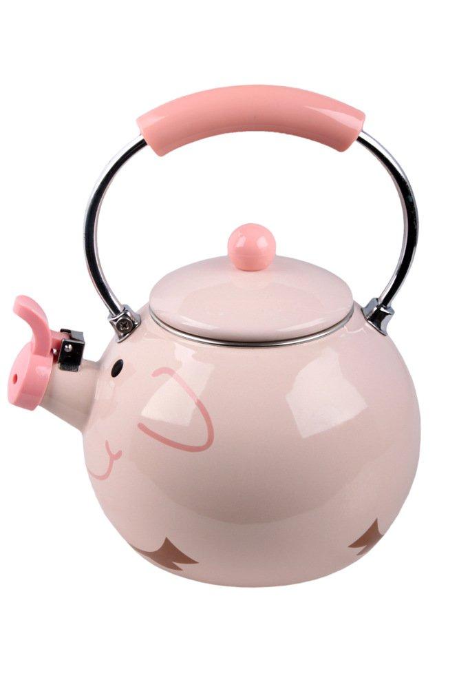 SLR Enamel Kettle Kettle Teapot Pig Animal Kettle Enamel Tea Kettle,Pink,One size