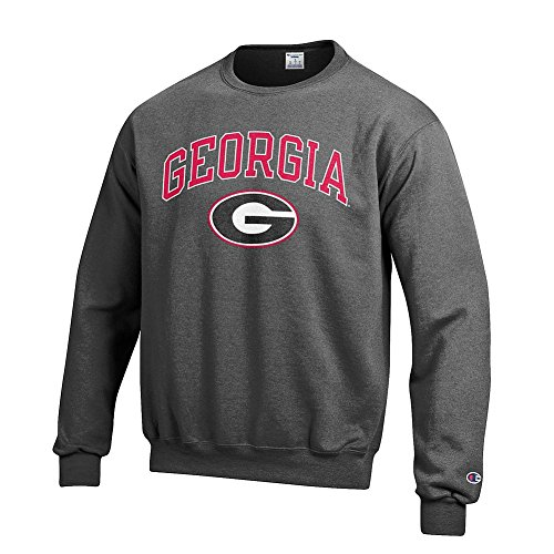 Elite Fan Shop Georgia Bulldogs Crewneck Sweatshirt Varsity Charcoal Team - XL