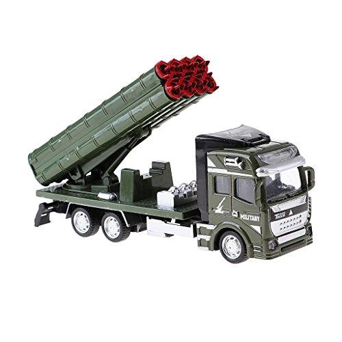 D DOLITY 1x Modelo Militar del Camión del Lanzador del Eje De Balancín De La Aleación Mini para La Decoración De La Mini...