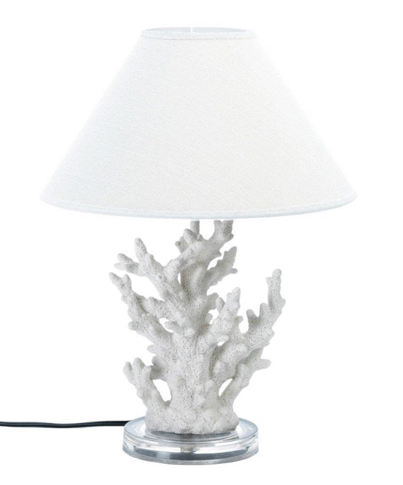 Koehler 10015678 Coral Table Lamp, 13.8'' x 15.5'' x 18.6'', White