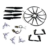 Bestdeal24h (TM) Syma X5 X5c x5c-1 M68 M68R Quadcopter Full Part Set 4*motors Propellers Landing Skid Protective Covers Motor Base Black Color
